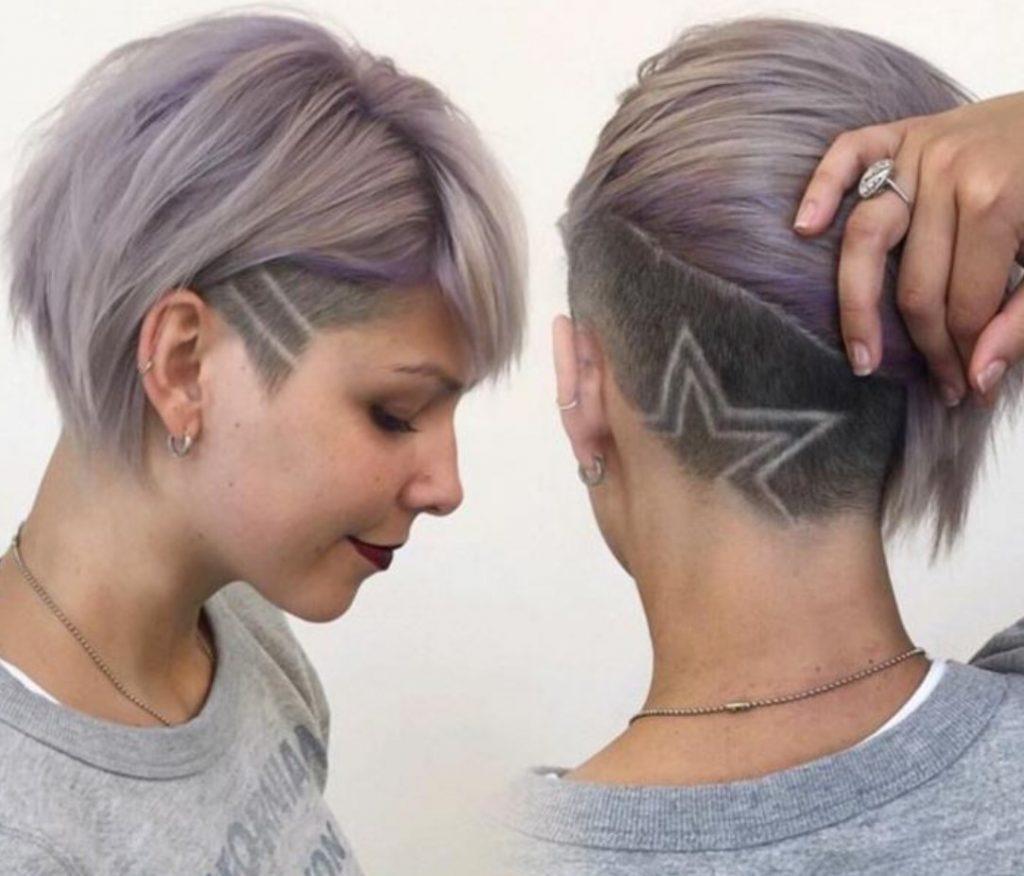 Yıldız Motifli Yanlar Kısa Üstler Uzun Saç