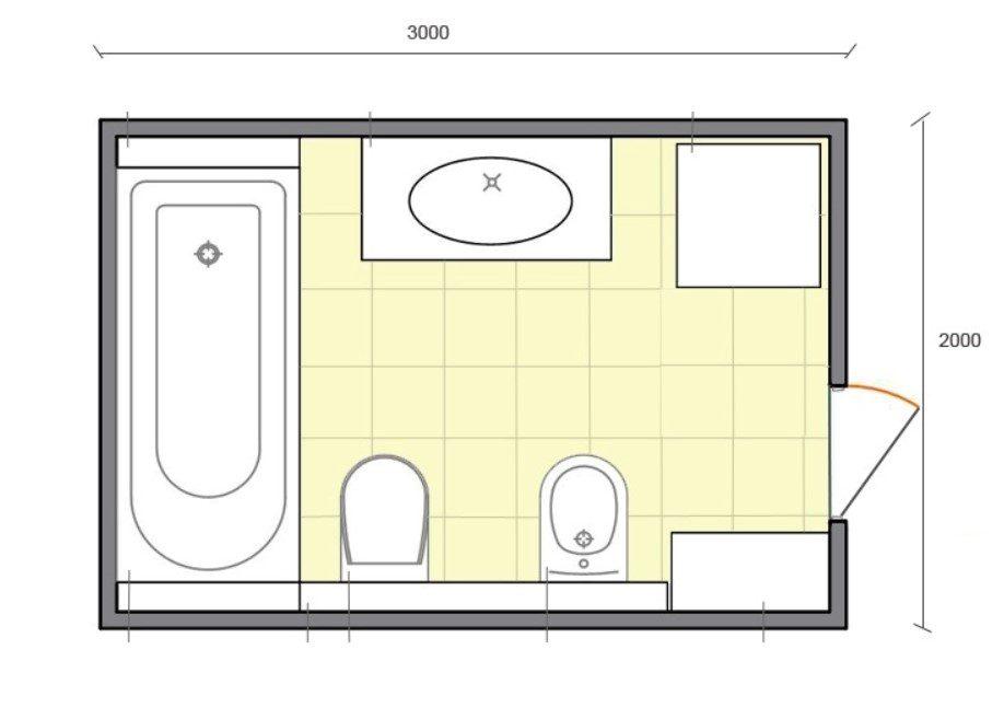 6 Metrekare banyo tasarımı fikri