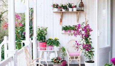 Balkon Çiçek Dekorasyon Örnekleri