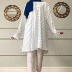 Çizgili Desen Tunik Modeli