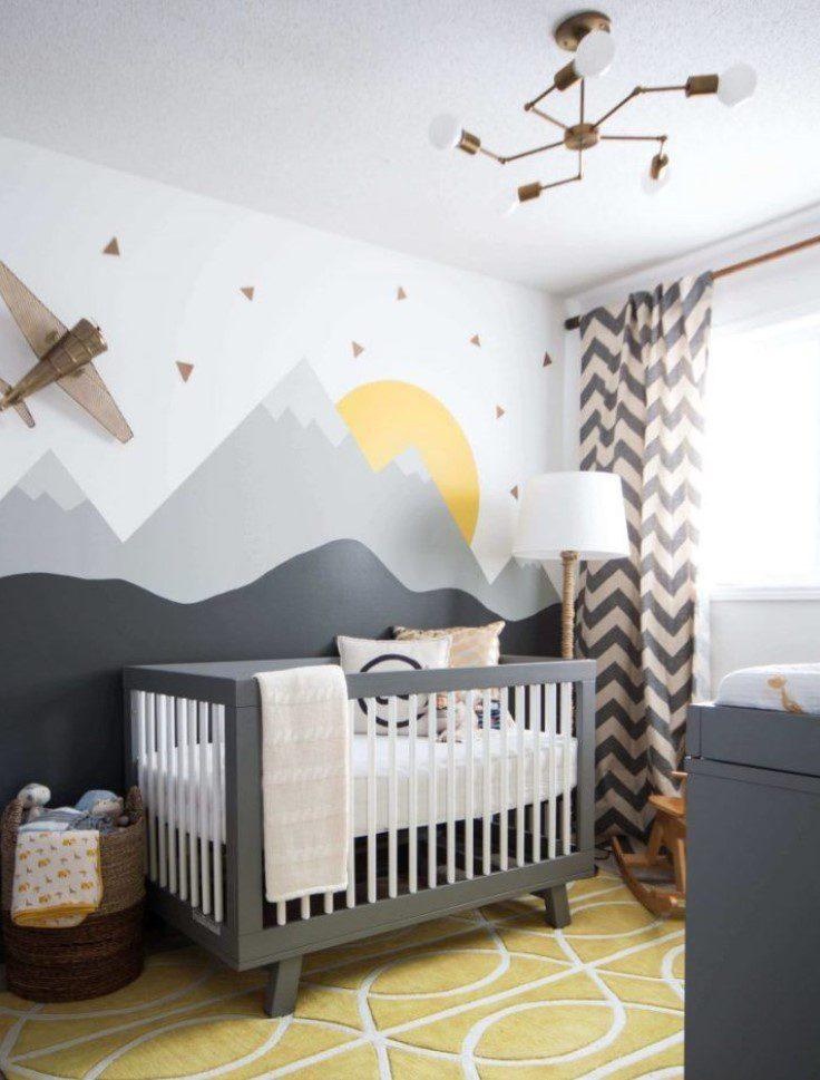Farklı Duvar Dizaynlı Bebek Odası
