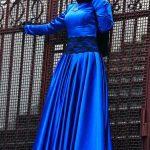 Fatma Sevildi Lacivert Abiye Modeli