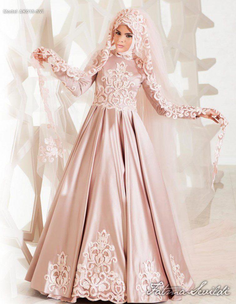 Fatma Sevildi Parlak Kumaş Abiye Modeli