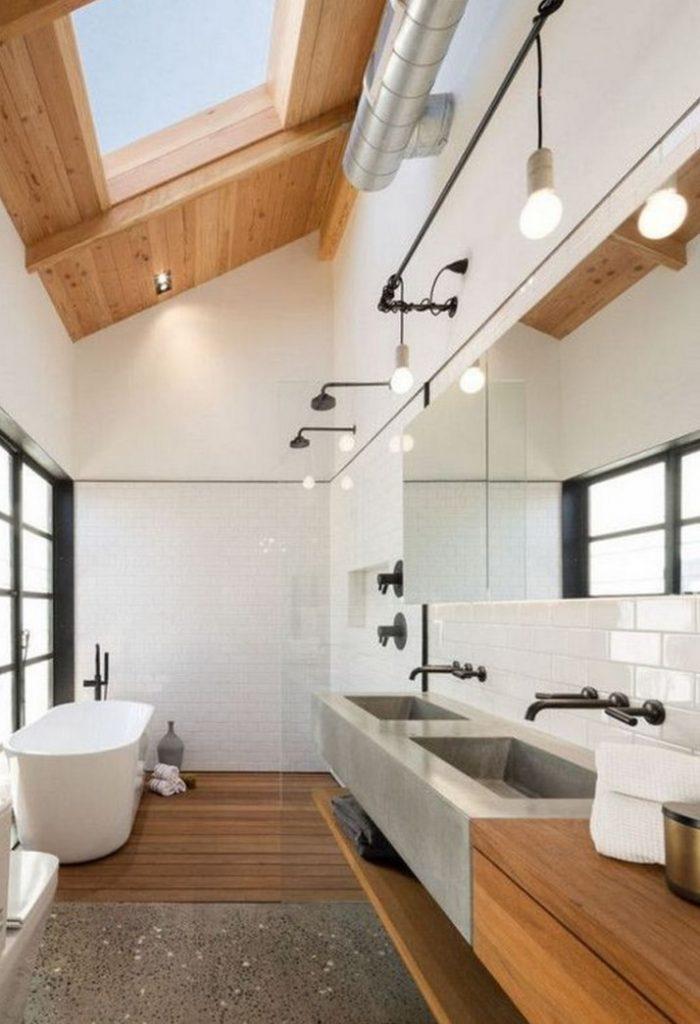 Fayansız Farklı Banyo Tasarımı