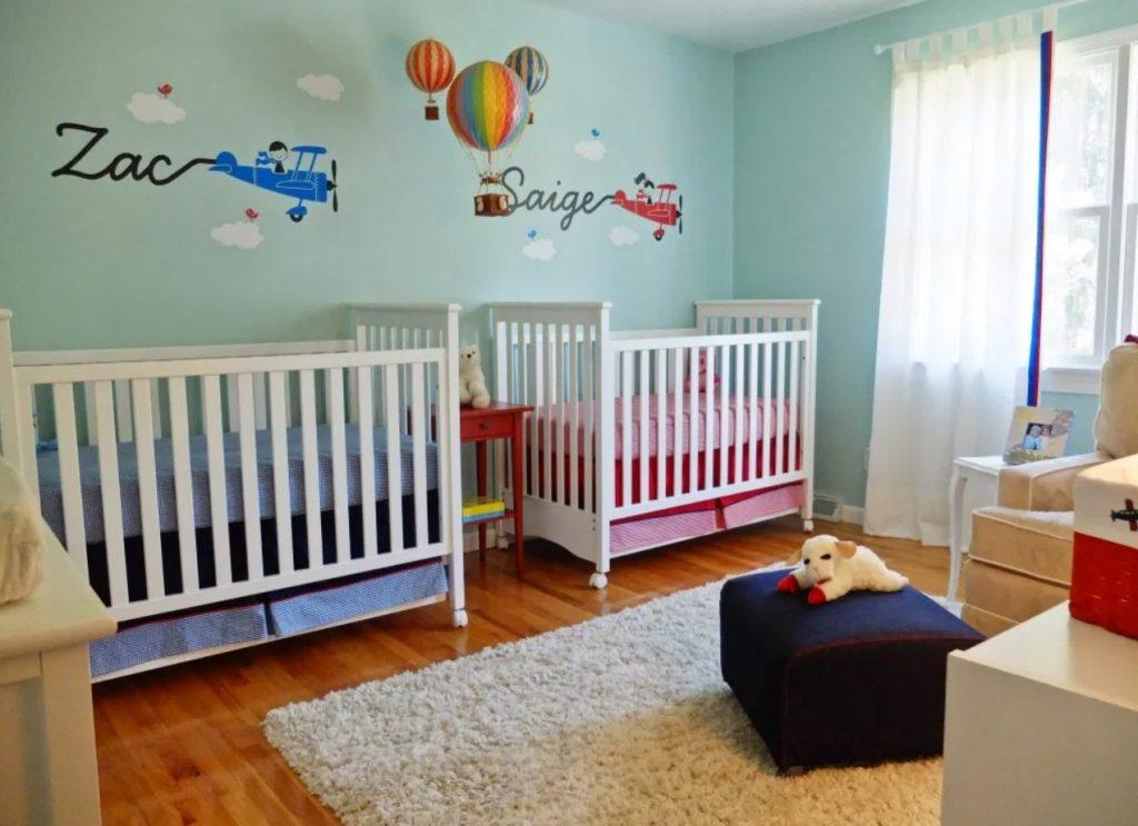 İkizler için Bebek Odası Fikri