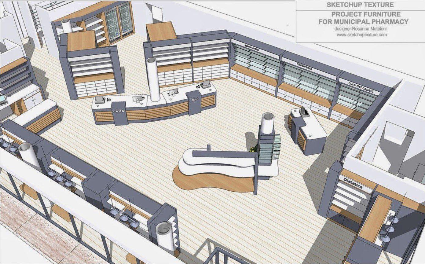Modern Eczane Plan Tasarımı