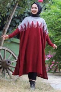 Salaş Bordo Triko Tunik Modeli