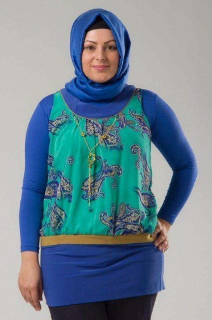 Tesettür Kilolu Giyim Tunik Modeli
