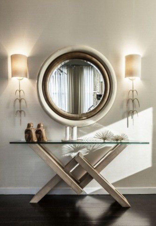 Varak Aynalı Konsol Üstü Dekorasyon Tasarım
