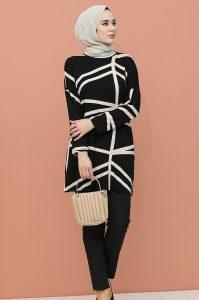 Yarasa Kol Tesettür Tunik Modeli