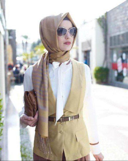bayramlık kahverengi şık elbise