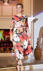 Esra Erol Çiçekli Elbise Modeli