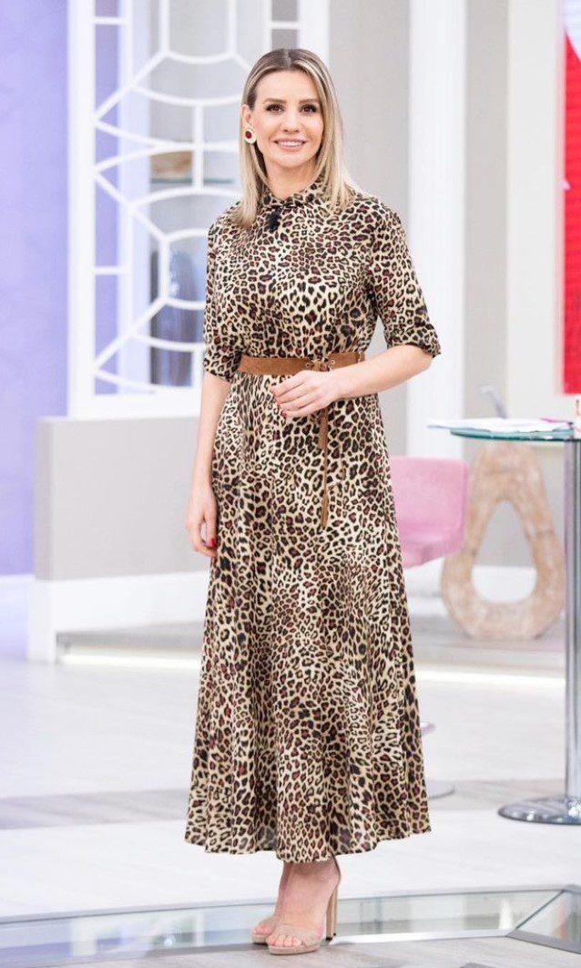 Esra Erol Leopar Desen Elbise Modeli