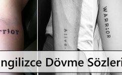 İngilizce Dövme Sözleri