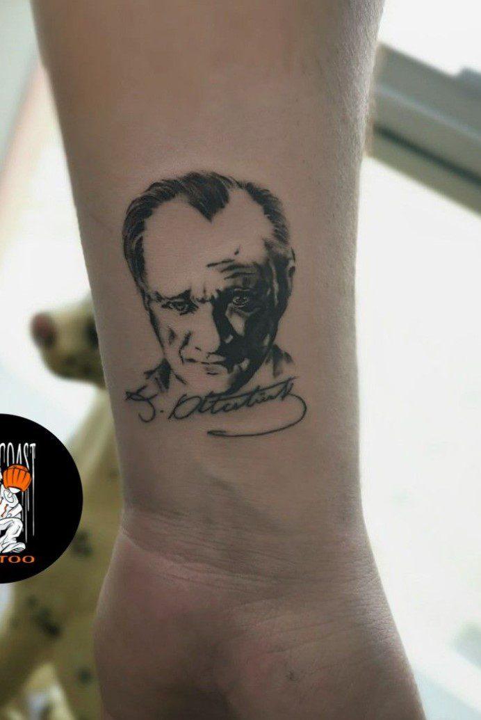 Minimal Atatürk Dövmeleri