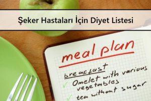 Şeker Hastaları İçin Diyet Listesi