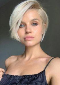 Açık Sarı Pixie Saç Modeli