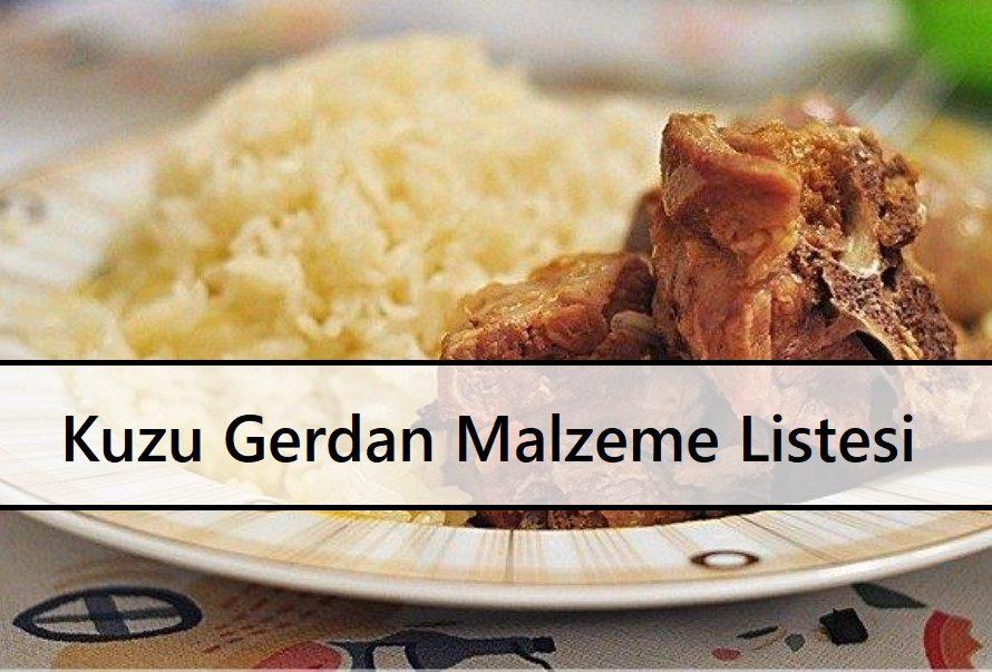 Kuzu Gerdan Malzeme Listesi