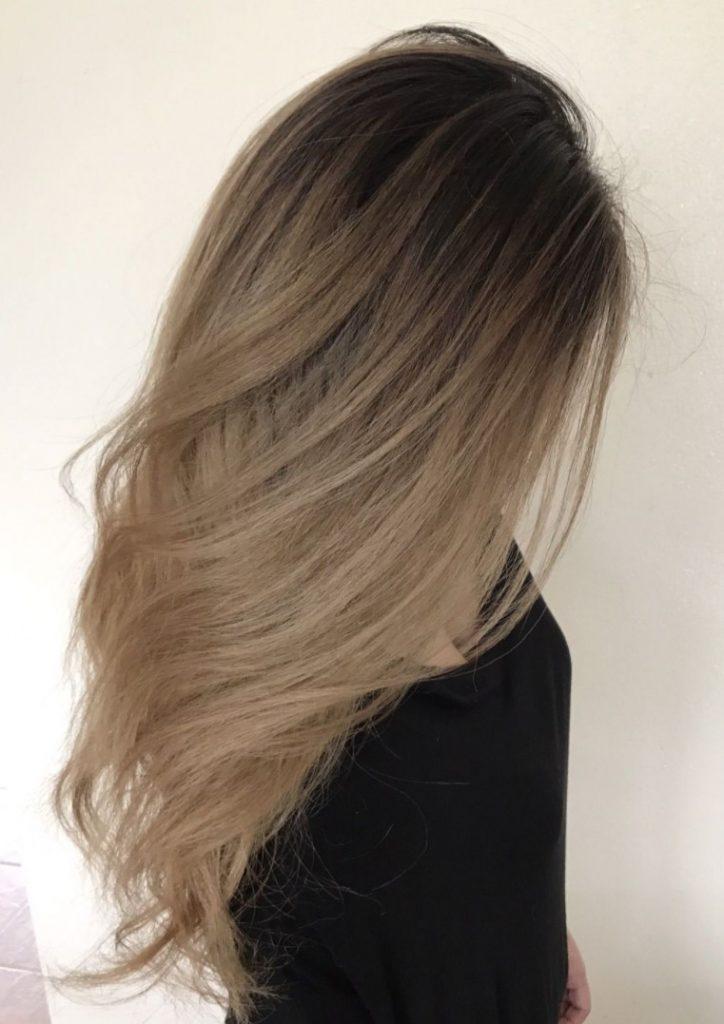Uzun Açık Kum Beji Saç Rengi