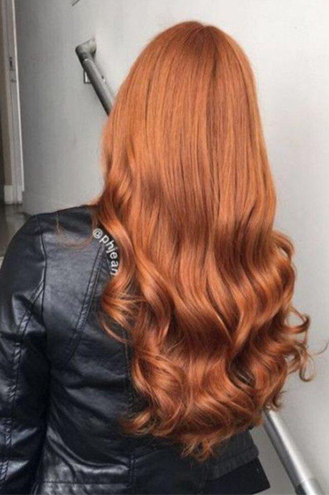 Dalgalı Tarçın Bakırı Saç Rengi