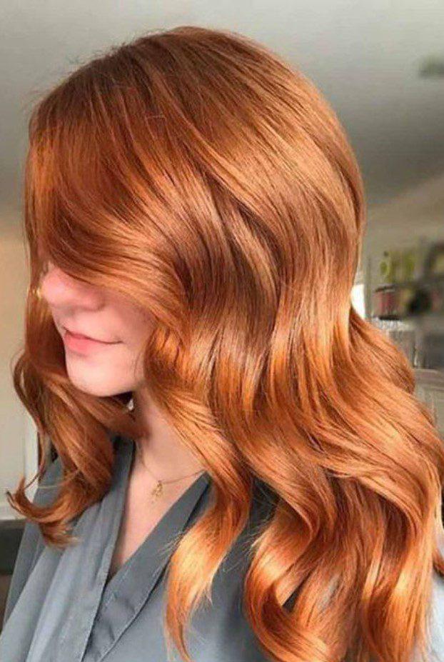 Dalgalı Tarçın Bakırı Saç Renk