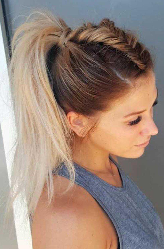 Seyrek Saçlar İçin örgülü At Kuyruğu saç modeli