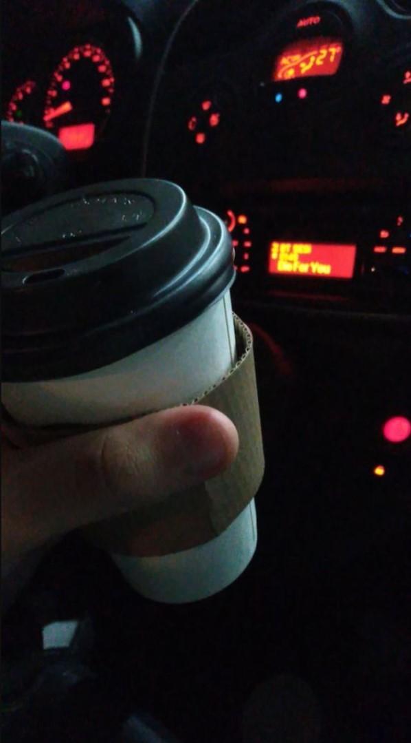 Fake Araba Story Gece kahve