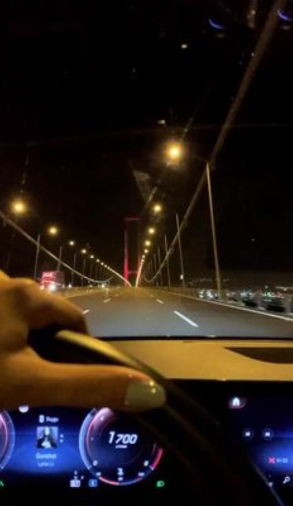 Fake Araba Story Gece köprü