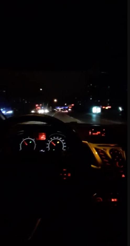 Fake Araba Story Gece trafik