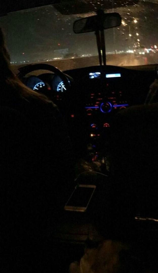 Gece yağmurlu Fake Araba Story