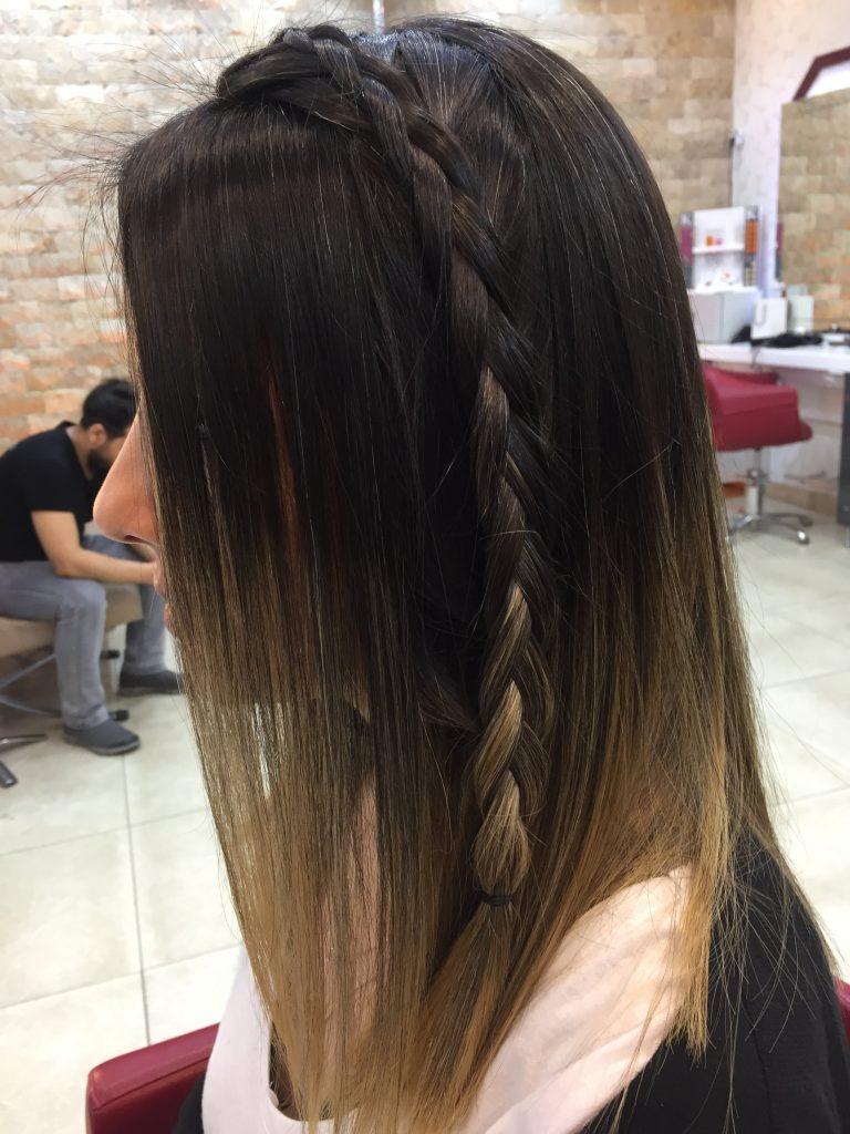 Düz fön saç modelleri